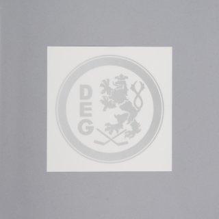 Aufkleber Logo outline - silber
